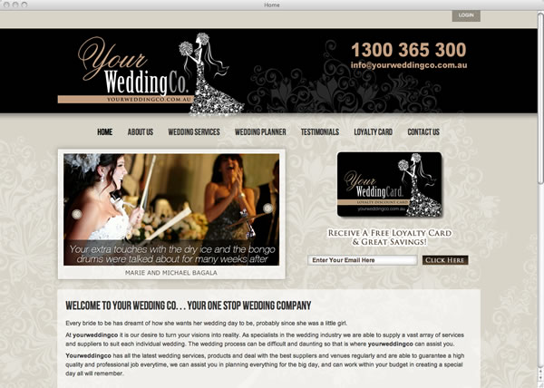 Your Wedding Co. website