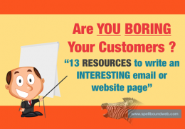 Checklist - are you boring your customers ?