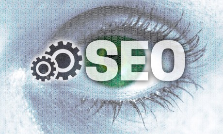 SEO services with cogs and an eye.