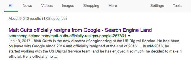 A search result.