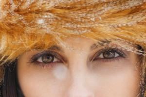 cool woman's eyes
