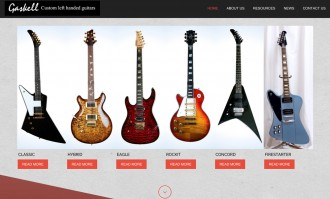 Custom left-handed guitars - Gaskell Guitars