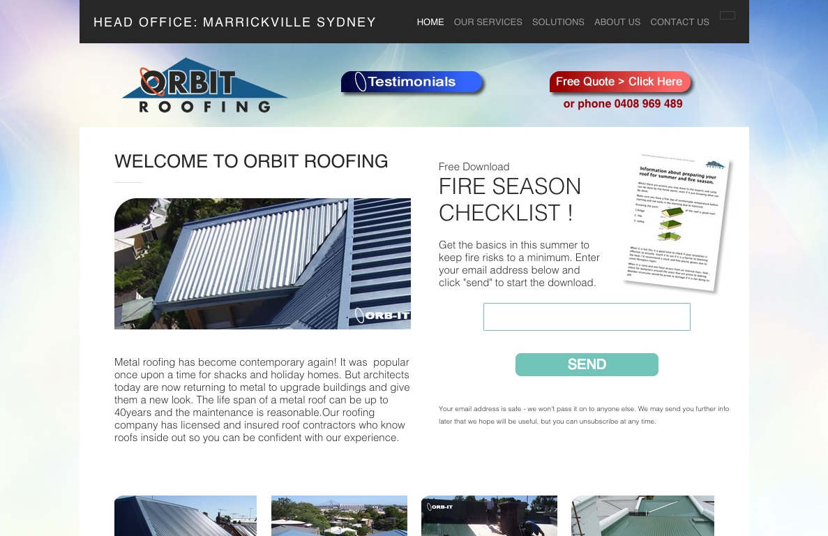 Orbit Roofing, Marrickville, Sydney