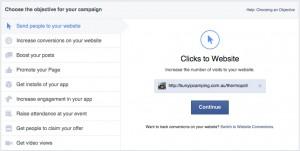 Clicks to Website Facebook Objective