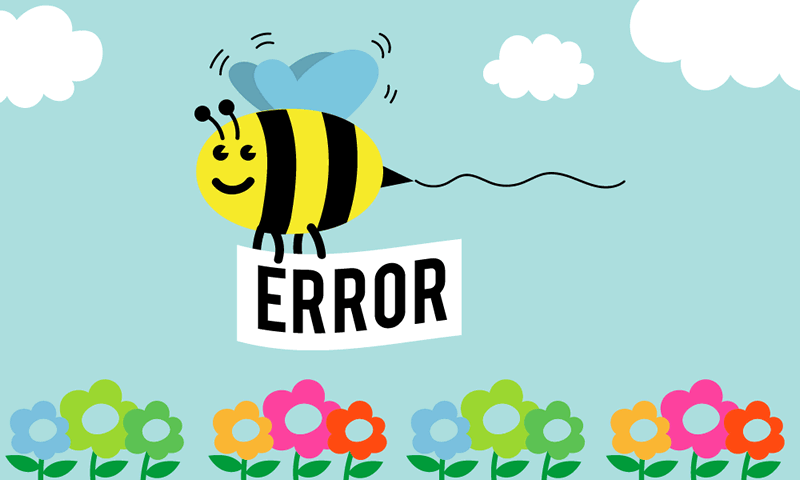 Bee carrying an error message resulting ( need to follow web design best practices ).