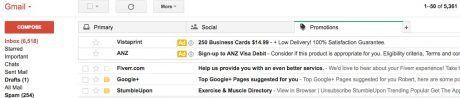 Gmail white-listing emails.