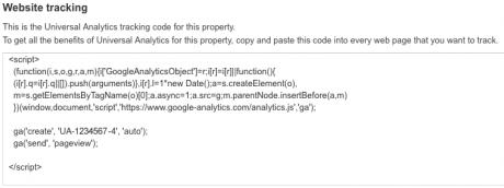 Google Analytics code.