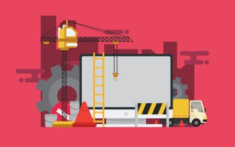Truck and crane and website builders.